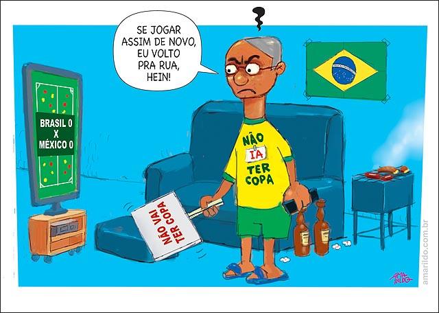 brasile perdeu Homem vendo tv nao ia ter copa pipoca cerveja churrasco