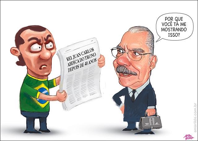 Juan Carlos Rei Espanha Renuncia Sarney nao brasileiro mostra jornal