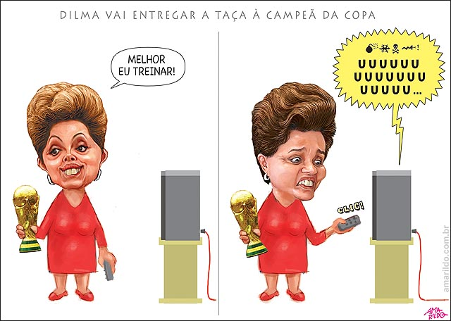 Dilma vai entregar a taca a campea da copa ouve seom vaia treino