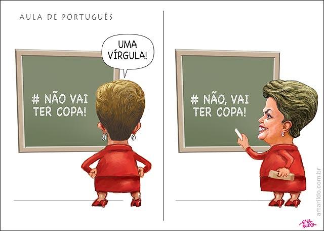Dilma nao vai ter copa quadro negro giz escudo