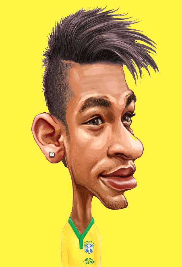 Caricaturas da Seleção Brasileira – Pôster encartado em A Gazeta de hoje.