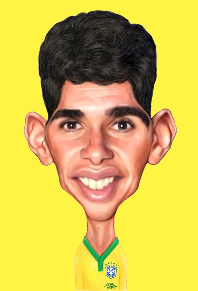 NEYMAR – Caricaturas para o pôster da Seleção Brasileira www.amarildo.com.br