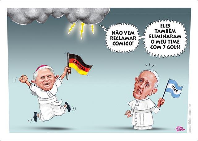 Copa alemanha campea Papa Francisco reclama ceu nuvem deus raio bandeira argentina