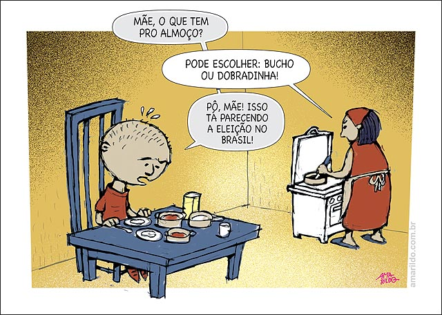 Crianca mesa almoco prato bucho dobradinha parece eleicao no brasil