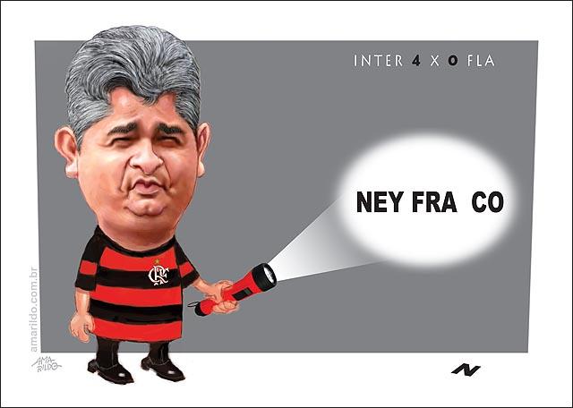 Ney Franco fraco lanterna Flamengo 1 Inter 4 pilhas