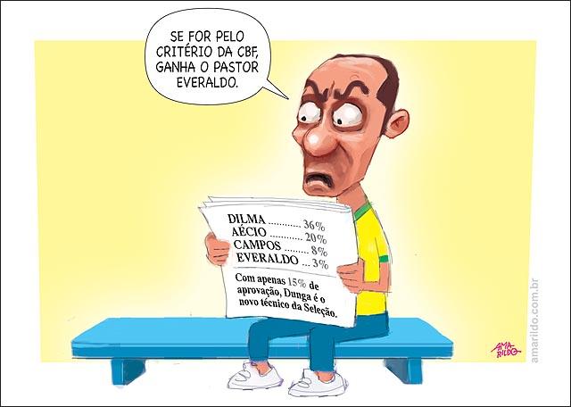 Nossa charge de hoje em A Gazeta: PROTESTOS E XINGAMENTOS II www.amarildo.com.br