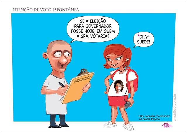 Pesquisa eleitoral prancheta chay suede para governador espontanea
