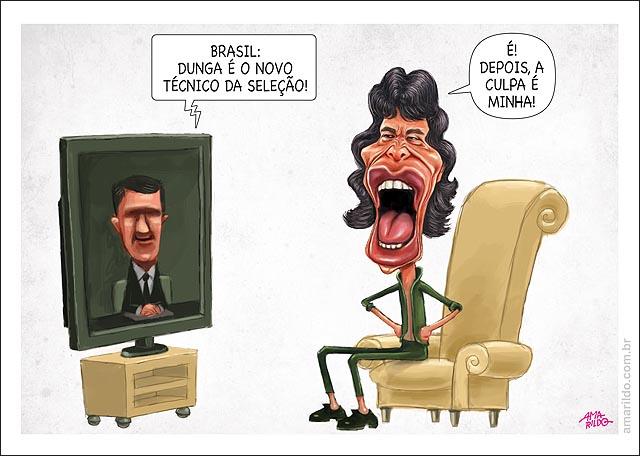 Dunga Tecnico selecao Mick Jagger depois culpa e minha tv inglaterra