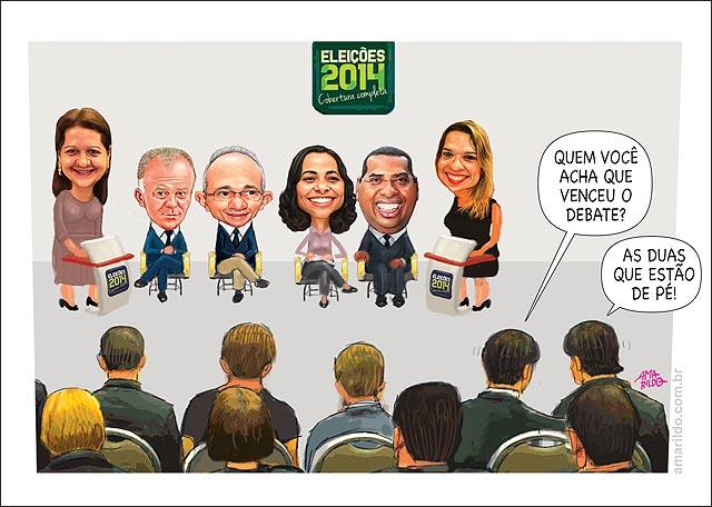 Debate Gazeta Candidatos quem venceu andreia e Fernanda Plateia 2