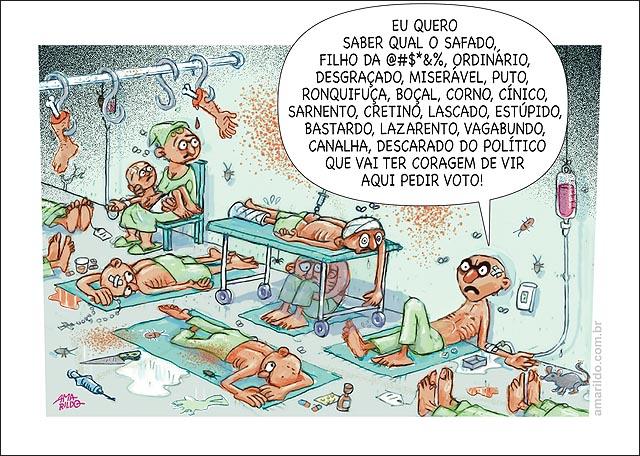 Hospital Leitos corredor PACIENTE XINGANDO POLITICOS QUE PEDEM VOTO