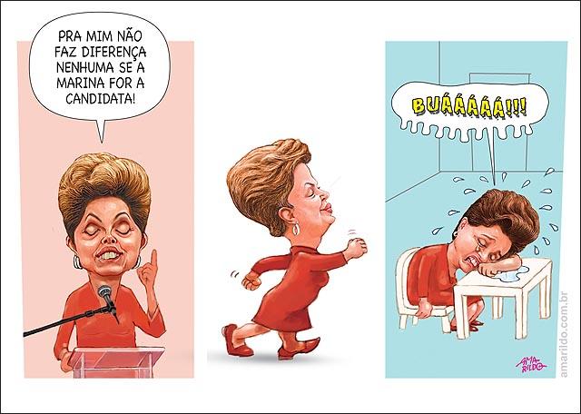 Dilma discurso MARINA CANDIDATA NAO FAZ DIFERENCA DEPOIS CHORA