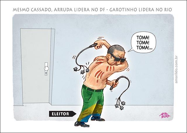 Arruda Cassado lidera pesquisas e garotinho no rio eleitor se penitencia chicote