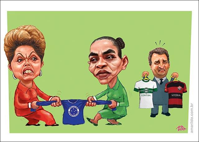 Dilma x marina Campeonato brasileiro cruzeiro aecio rebaixamento