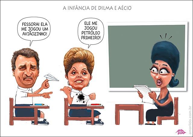 Dilma aecio infancia joga aviao e petroleo