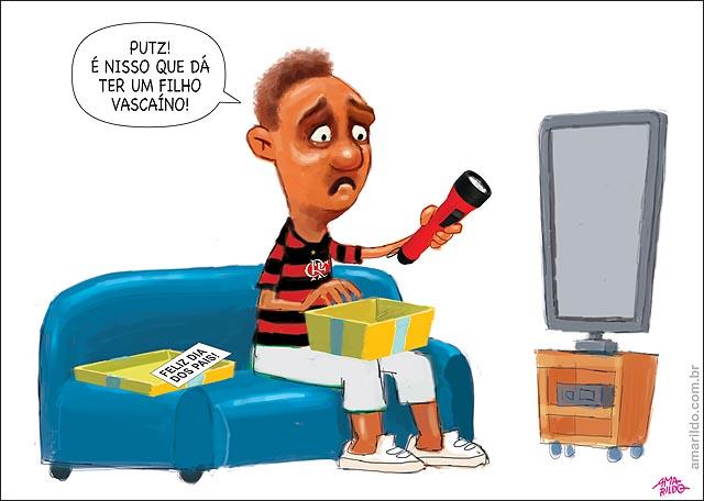 Dia dos Pais Flamengo presente lanterna filho vascaino