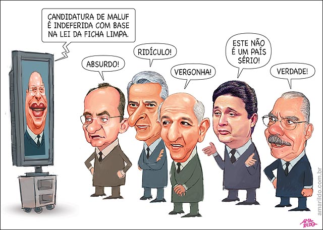 Maluf Candidatura Impugnada Sarney Collor Arruda Garotinho TV brasil nao e um pais serio