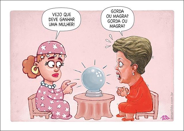 Dilma cigana previsao fututo presidente ganha mulher magra ou gorda marina