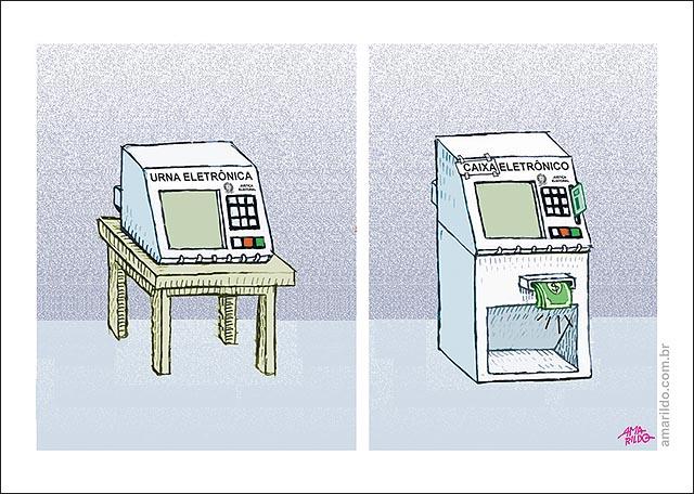 urna vira caixa eletronico