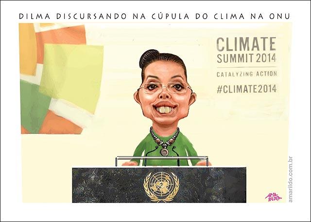 Dilma onu cupula do clima VESTIDA de marina