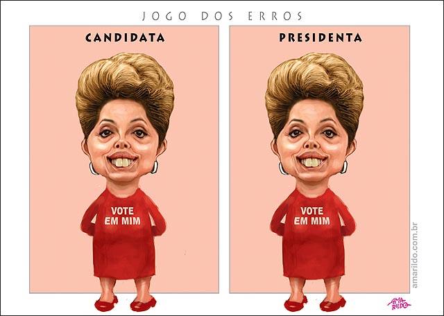 Dima candidata e dilma presidenta jogo dos erros diferenca