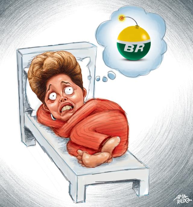 Dilma dormindo Cama insonia petrobras