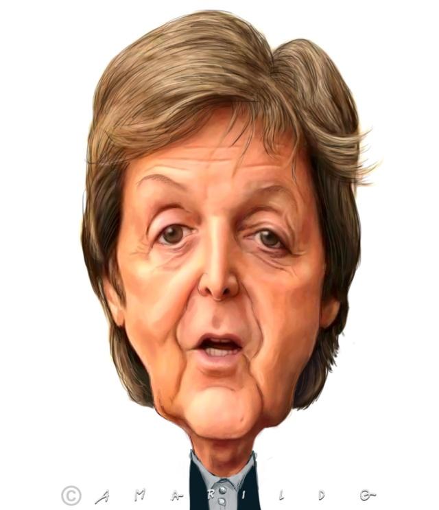 Paul McCartney - Caricatura - Amarildo