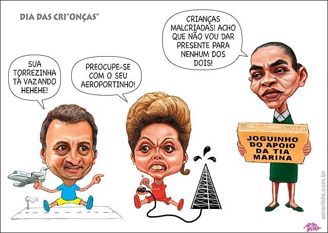 Dilma nenem aecio nenem presentes petroleo petrobras aviao aeroporto marina em duvida