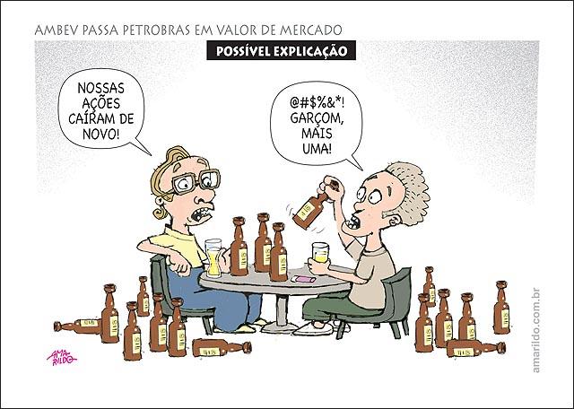 Petrobras nao e empresa mais valiosa do brasil agora e ambeve acionistas bebem no bar investidores