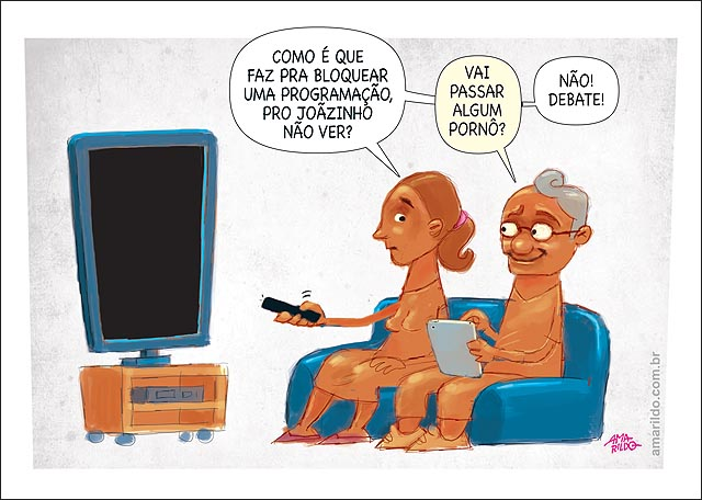 Debate Mae controle remoto bloquear canal filme porno sofa tv marido tablet