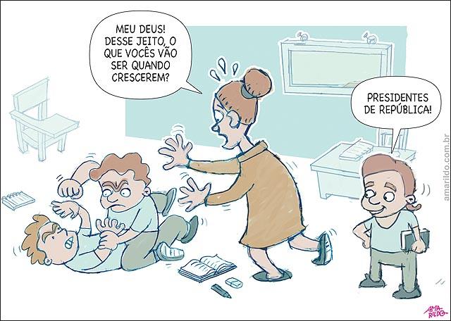 Educacao Violencia Escola Carteira professora Briga SERAO PRESIDENTESpsd