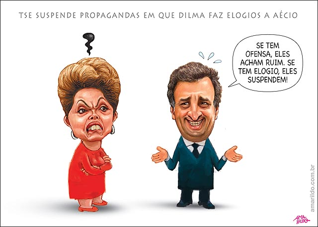TSE suspende propagandas em que Dilma faz elogios a Aecio dando de ombros