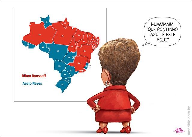 Resultado eleicao presidente aecio x dilma mapa brasil es azul dilma costas
