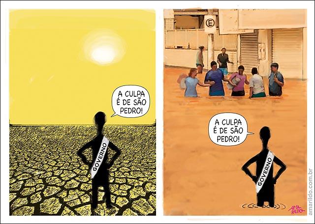 Chuva seca governo a culpa e de sao pedro
