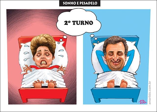 Eleicao 2014 segundo turno Dilma pesadeo aecio sonho