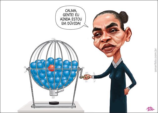 Marina decide apoio dilma ou aecio globo sorteio bolas azul vermelha psdb pt