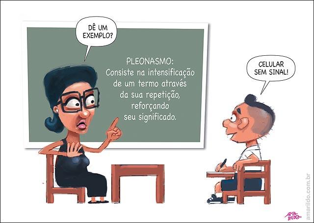 TELEFONE CELULAR Pleonasmo escola professora aluno