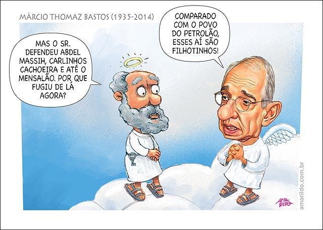 Marcio Thomaz Bastos Morte Ceu Nuvem Advogado do Mensalao sim Petrolao não