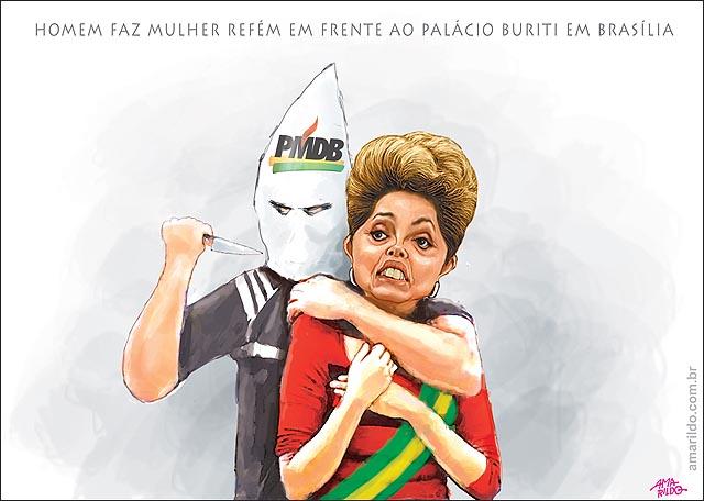 Homem mantem mulher refem em brasilia com faca pmdb dilma refem