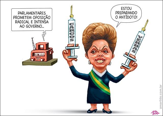 Dilma oposicao radical prepara injecao antidoto verbas e cargos