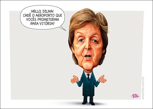 Paul McCartney pede aeroporto para dilma