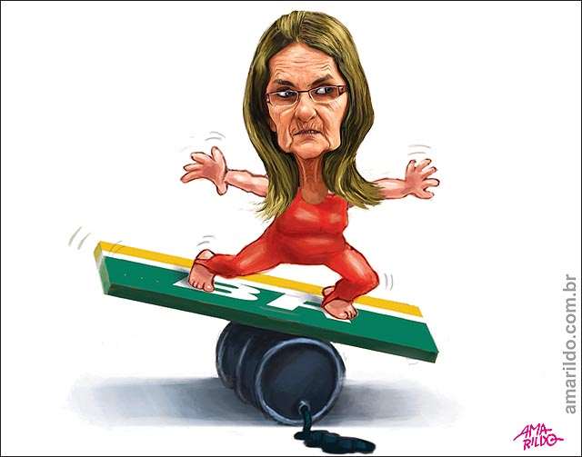 Graça Foster Equilibrista Tabua Petrobras Barril de Petroleo