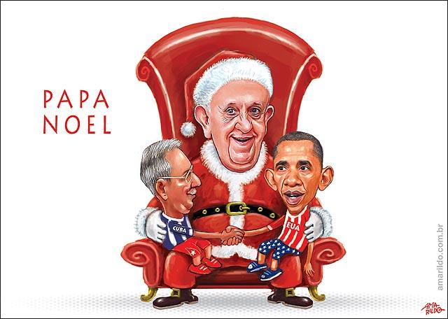 EUA reaproximam Cuba obama Raul Castro Papa noel presente une 2