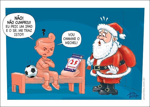 Papai Noel Nao Cumpriu pediu ipad e ganhou bola chama o Michel Bermudes Natal 3