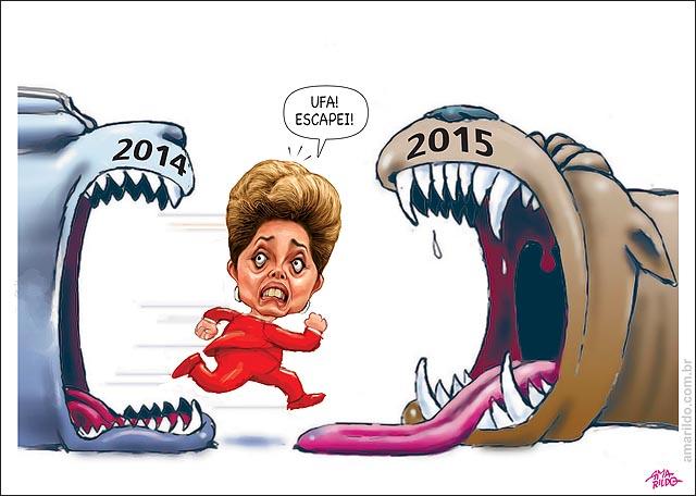 Dilma ano novo escapei boca grande dentes 2014 2015