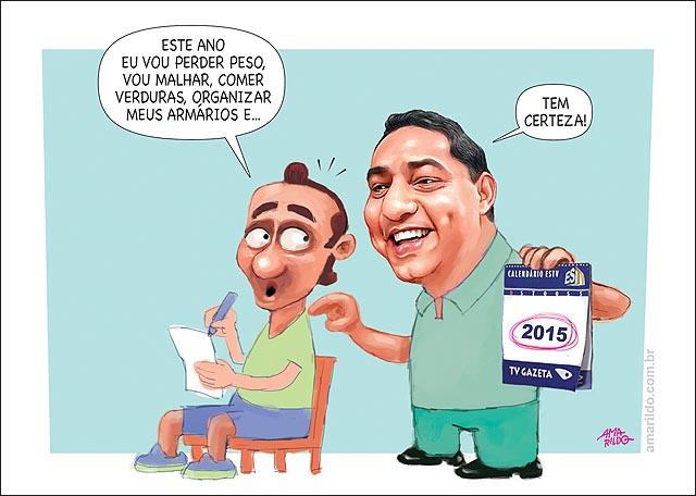 Promessas de ano novo Emagrecer Exercicios organizar trabalho Michel bermudes