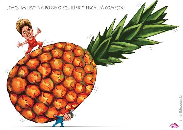 Posse de Joaquim Levy Ministro Fazenda Abacaxi Gigante
