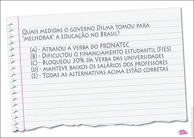 Educacao Dilma Prova atrasa Pronatec dificulta Fies Corta verba Salarioprofessoras