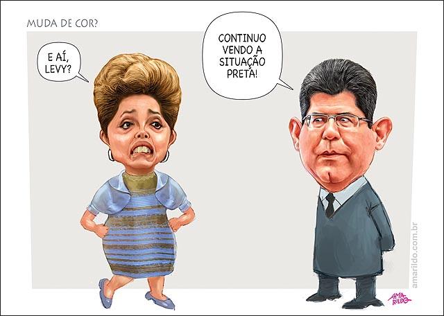 Dilma vestido que muda de cor levy diz nao adianta presidenta nao muda nada a situcao preta