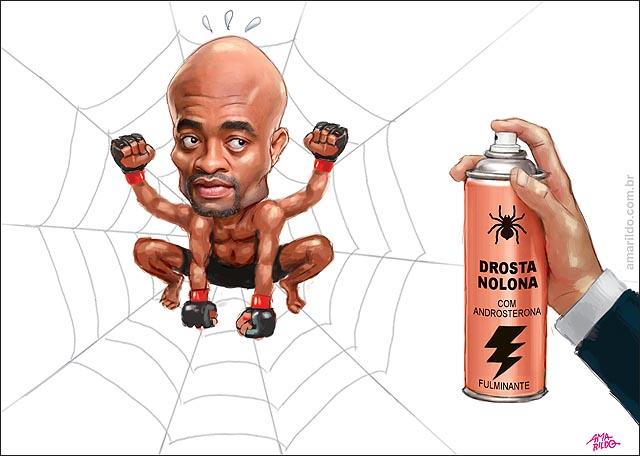 Anderson silva pego no antidopping drostanolona e androsterona aranha teia inseticida spray