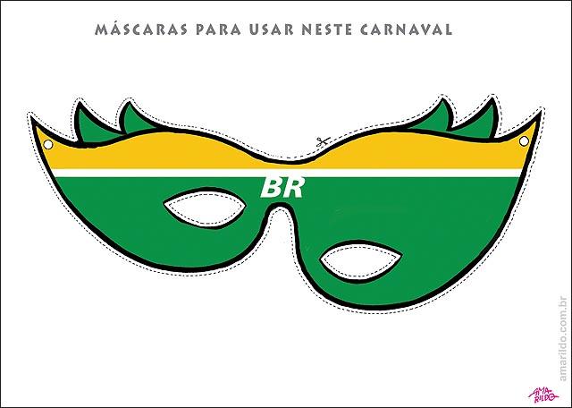 Mascaras de carnaval cervero